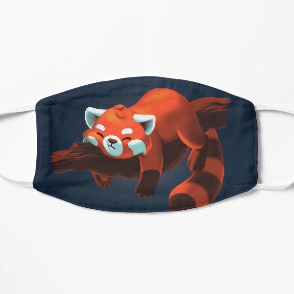 Red Panda Lazy Mask - Procrastination Animal - Cute Fluffy Animal Mascarilla plana