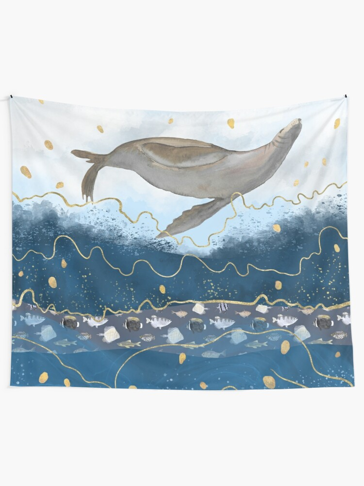 Alternate view of Flying Seal - Climate Change Surreal Awareness  Tapestry