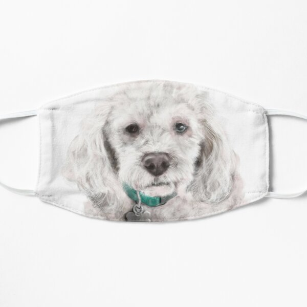 A very serious cockapoo dog  Mask