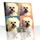 Pet Pop Art Canvas by SnappyCanvas