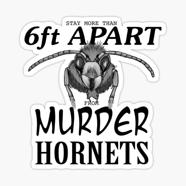 Stay More Than 6ft Apart from Murder Hornets Sticker