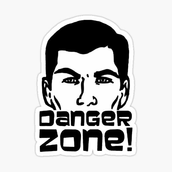 Sterling Archer - Danger Zone! Sticker