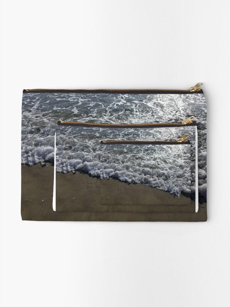 Alternate view of Ocean on the Beach Zipper Pouch