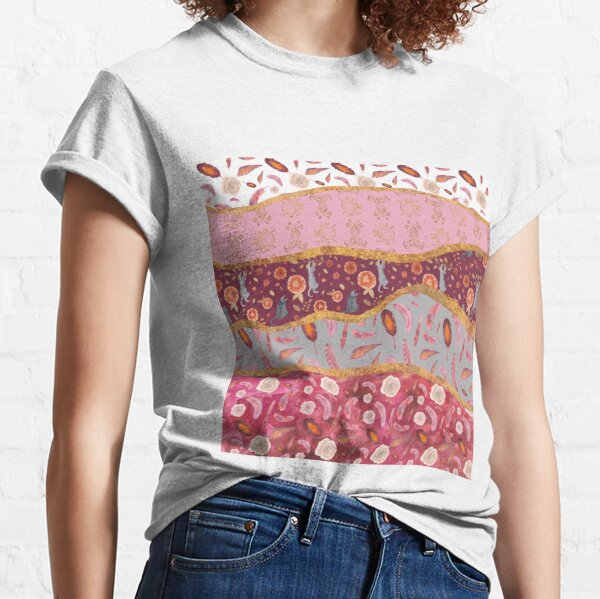 Rolling hills of cats, feathers and roses Classic T-Shirt