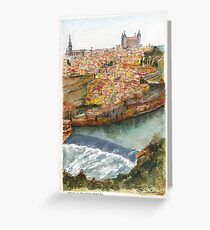 River Tagus Weir, Toledo Greeting Card