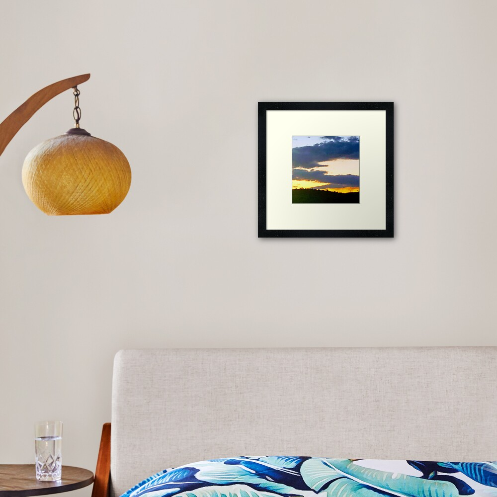 Sunset in Western Maryland 1 Framed Art Print