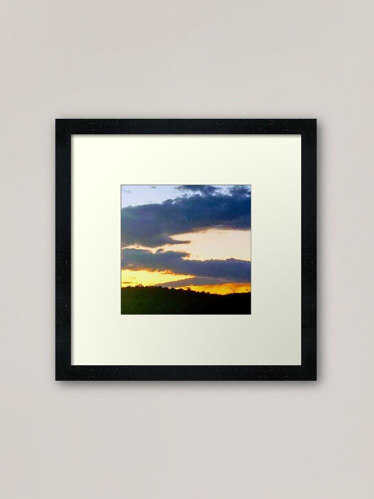 Alternate view of Sunset in Western Maryland 1 Framed Art Print