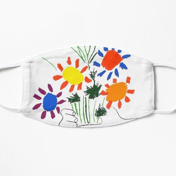 Pablo Picasso Bouquet Of Peace 1958 (Flowers Bouquet With Hands) or Le Bouquet de la Amitié (friendship) Flat Mask