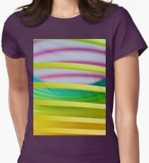 Rainbow Slinky 8 Womens Fitted T-Shirt