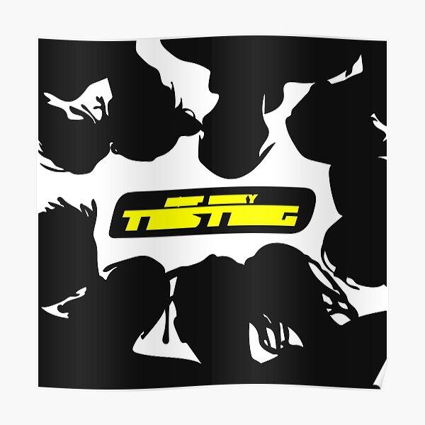 testing minimal album cover Poster