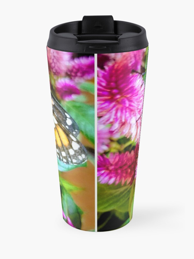 Alternate view of Monarch Butterfly Profile Travel Mug