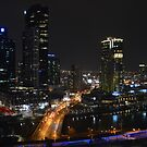Melbourne lights - Victoria by bekyimage