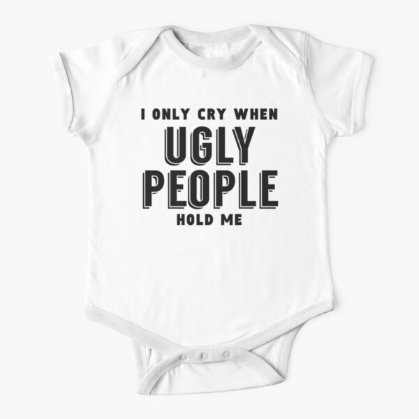 Boys Girls I Only Cry When Ugly People Hold Me Teen Youth Hoodies Black
