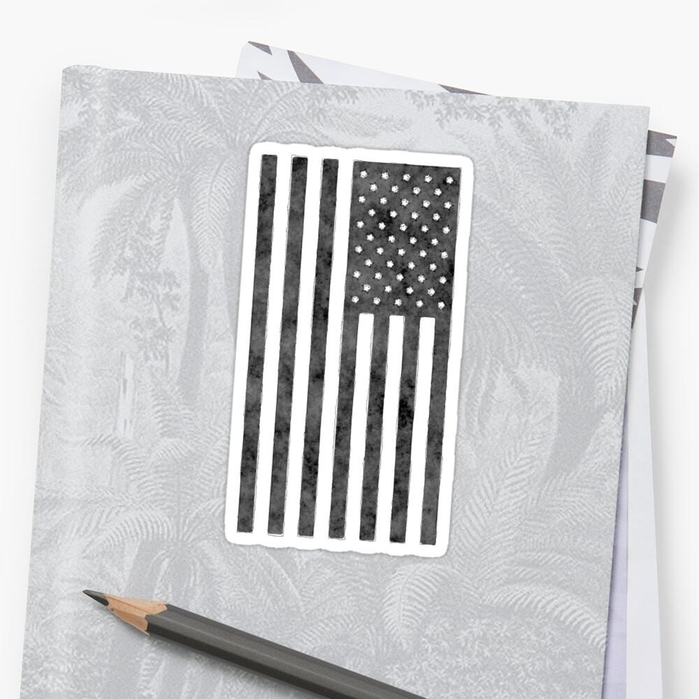 US-Flagge Grunge-Stil Sticker