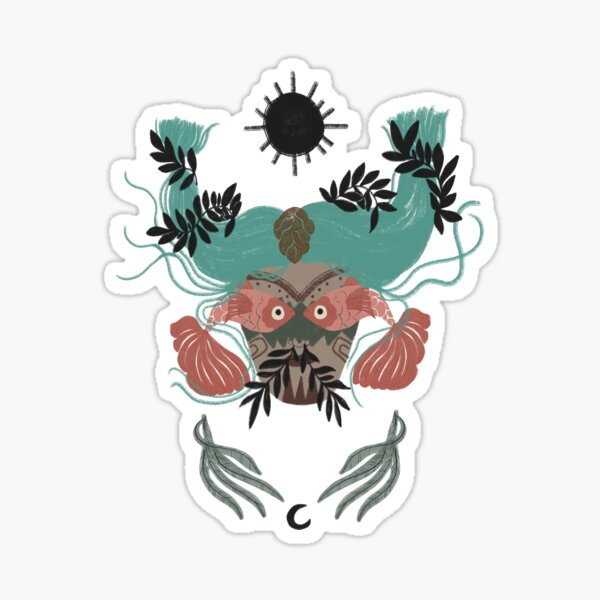 Pisces Zodiac Illustration Sticker