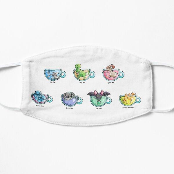 Kawaii Cute Tea Puns Collection Flat Mask