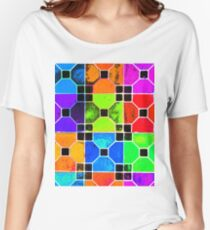COLOUR TILED Women's Relaxed Fit T-Shirt