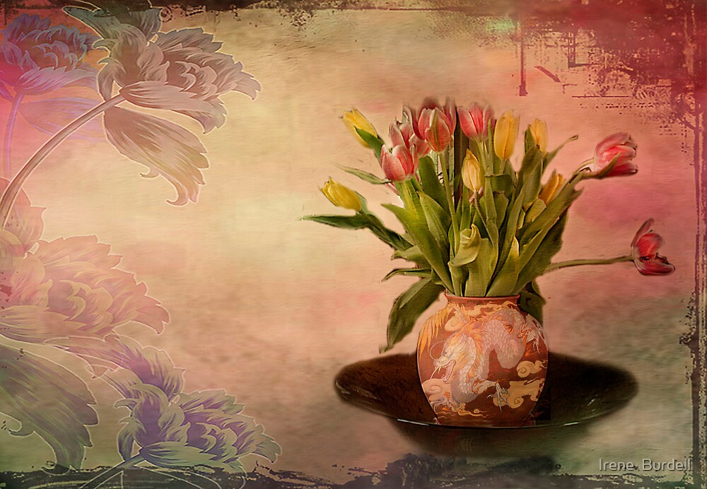 Vintage Tulips by Irene  Burdell