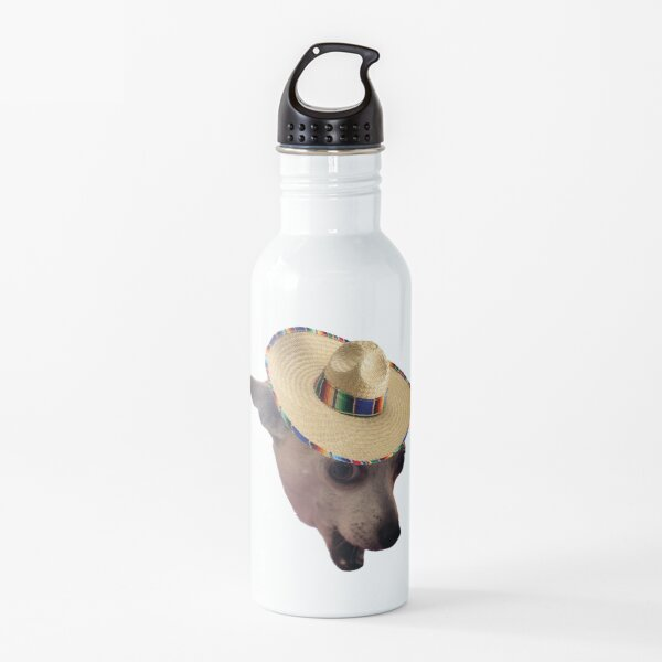 Chihuahua Sombrero Design Water Bottle