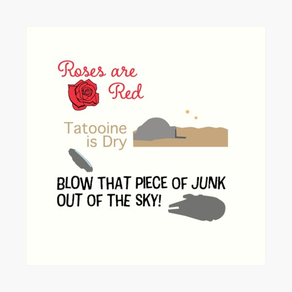 Blow that piece of junk out of the sky! Art Print