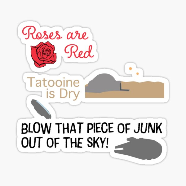 Blow that piece of junk out of the sky! Sticker