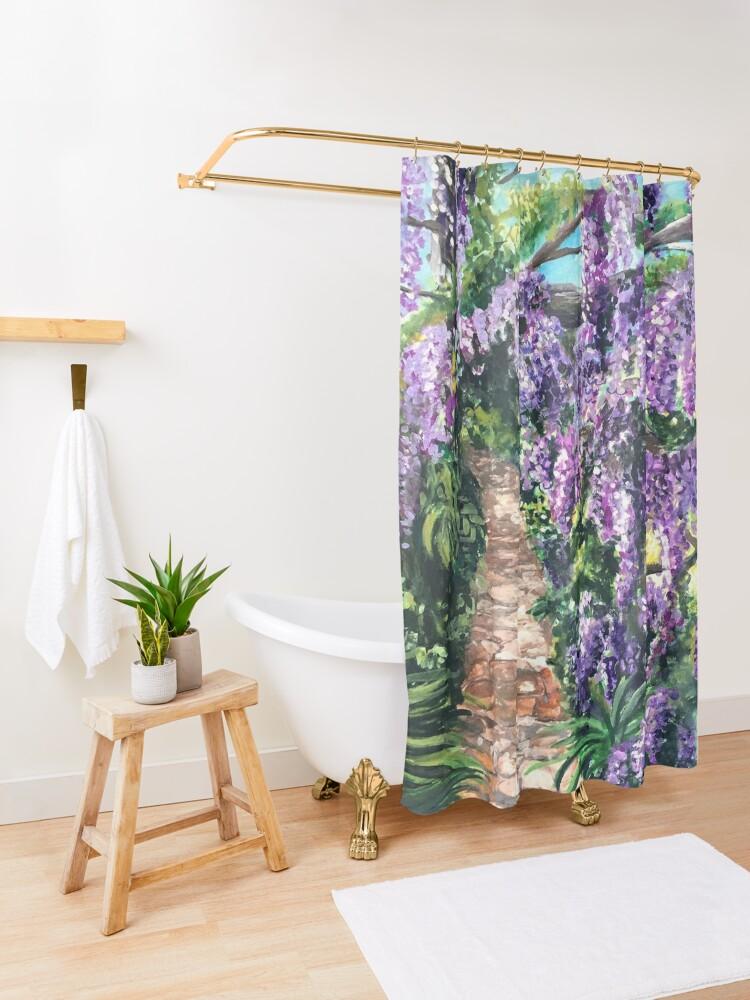Alternate view of Wisteria Lane Shower Curtain