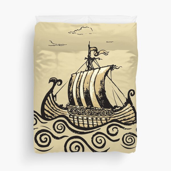 Viking ship Duvet Cover