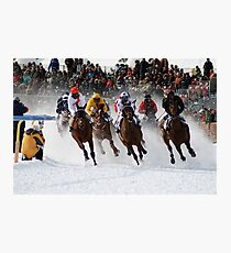 White Turf  Photographic Print