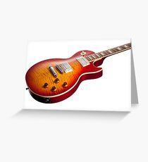 Les Paul Guitar Cherry Sunburst Greeting Card