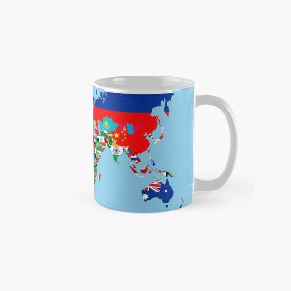 world flags map Classic Mug