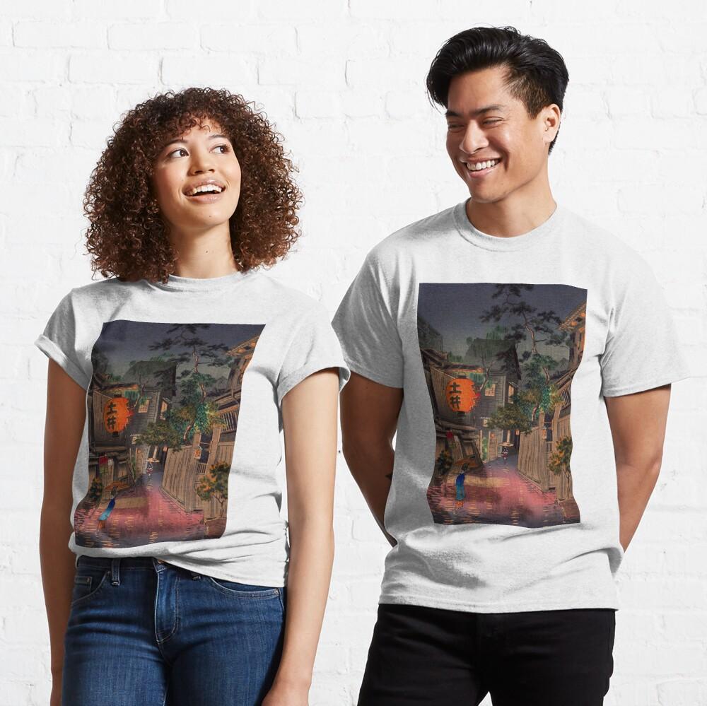 Night Street Rain   Classic T-Shirt