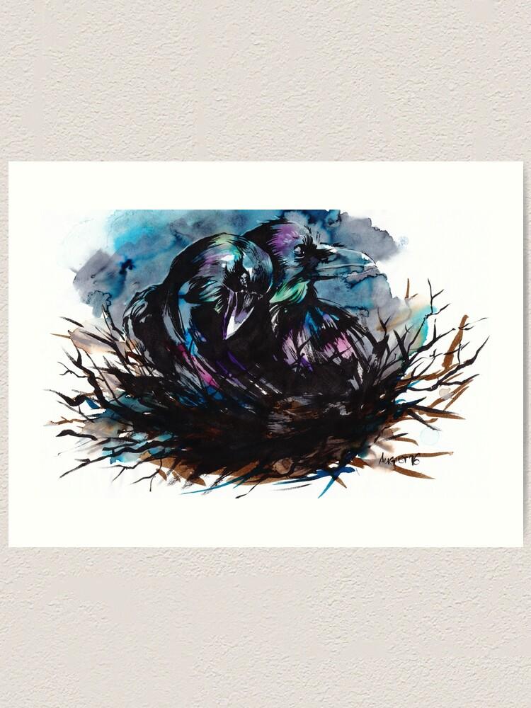 Alternate view of Two Ravens Art Print