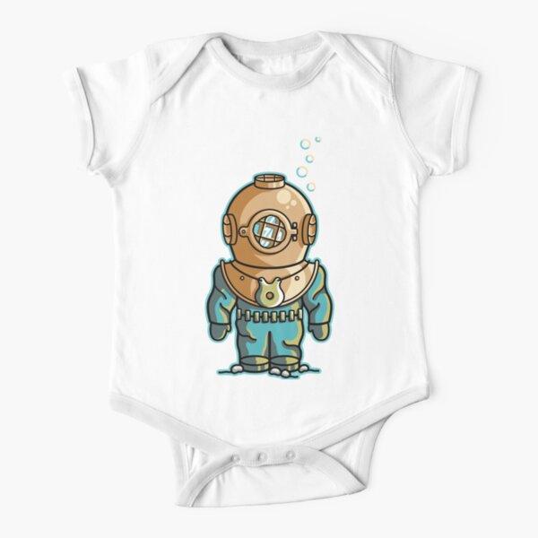 Cute Deep Sea Diver Short Sleeve Baby One-Piece