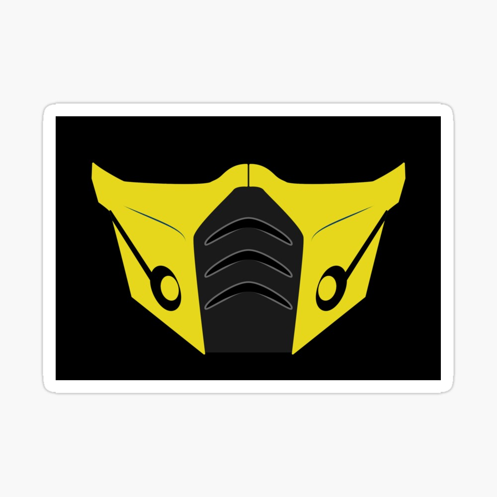 Scorpion Covid 19 Face Mask Coronavirus Mortal Kombat Mask By Zoniedesign Redbubble