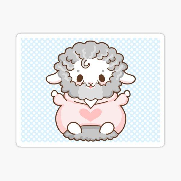 Heart Sheep by tubbycherub Sticker
