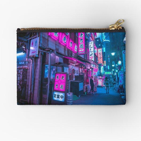 Small streets of Shinjuku Omoide Yokocho Tokyo Area Zipper Pouch
