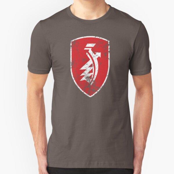 Distressed classic Zündapp emblem Slim Fit T-Shirt