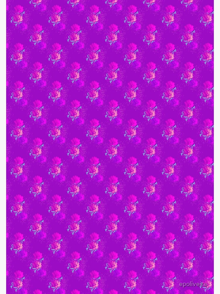 Bloom - Purple Flower Pattern  by epoliveira