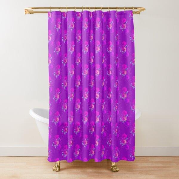 Bloom - Purple Flower Pattern  Shower Curtain