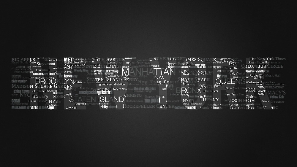 New York City - Typography by danwa