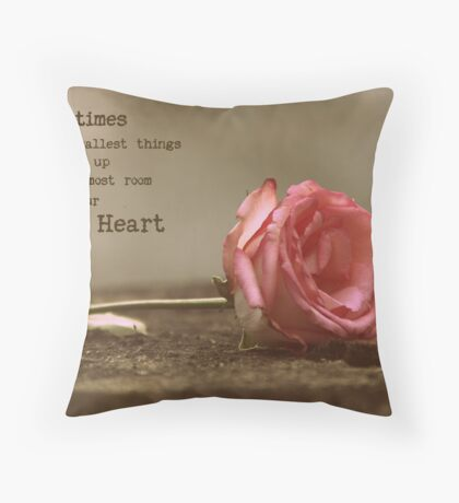 Words to Inspire Throw Pillow