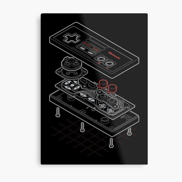 Blueprint Famicom Metal Print