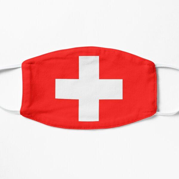 Masque de drapeau de la Suisse Masque sans plis