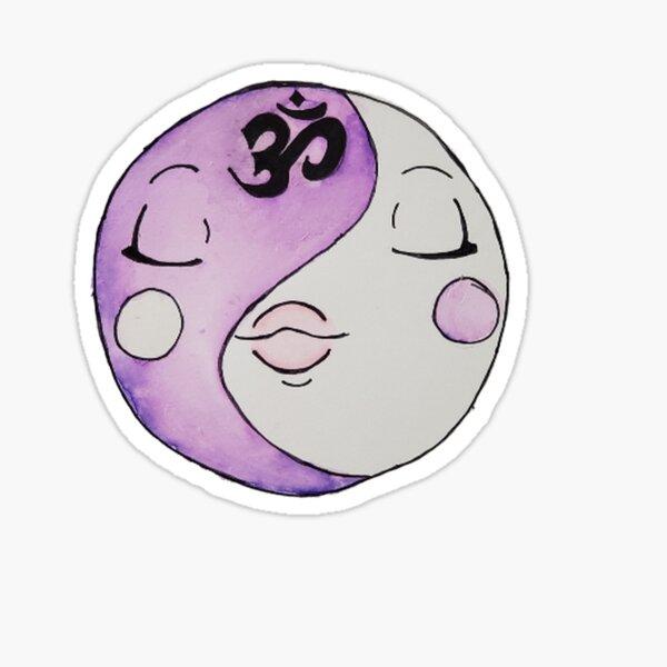 Serene Lavender Yin Yang  Sticker