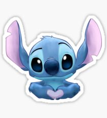Stitch Heart Sticker