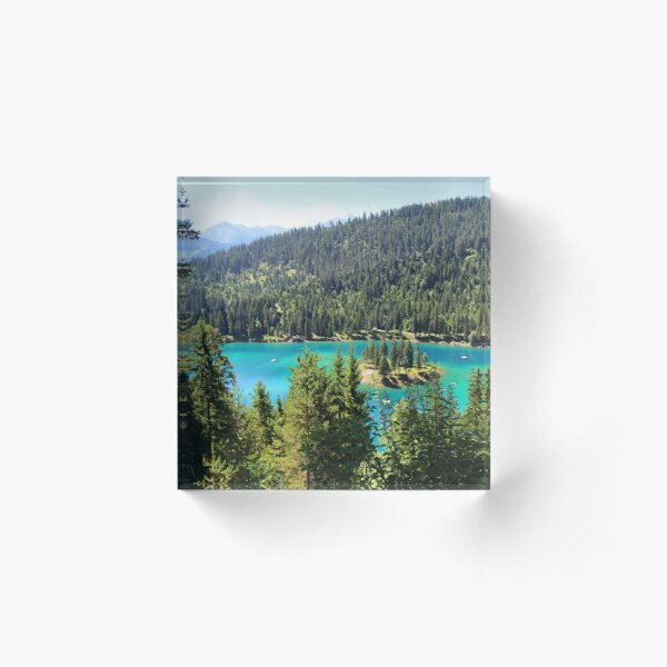 Lake Cauma, Flims, Graubünden Acrylic Block