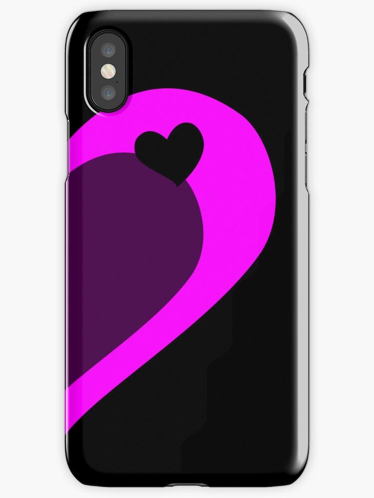Pink Half Heart by XxJasonMichaelx