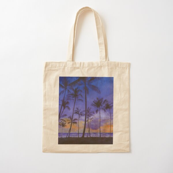 Tropical Sunset Cotton Tote Bag