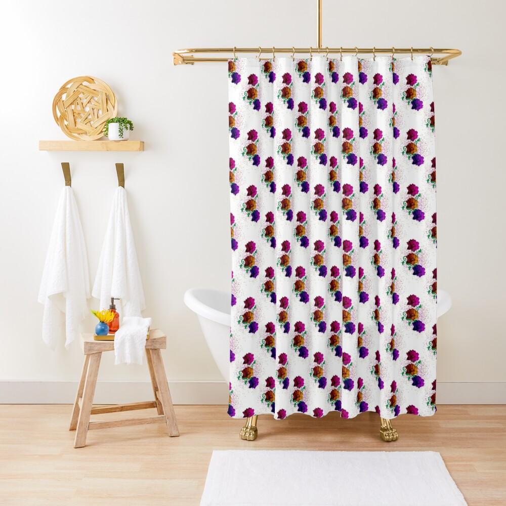Spring Fun - Flower Pattern Shower Curtain