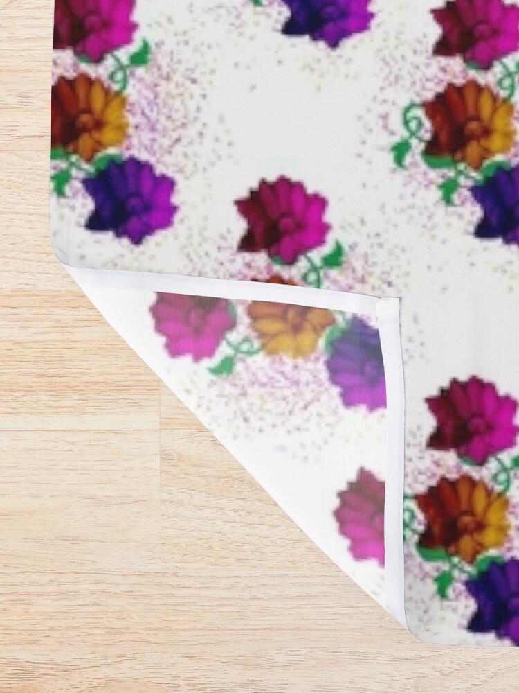 Alternate view of Spring Fun - Flower Pattern Shower Curtain